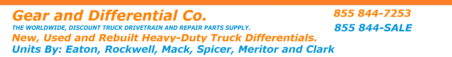 Gear and Differential. The Worldwide Discount Truck Differential and Repair Parts Supply.
